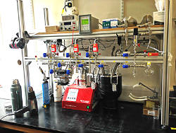 Heated gas rig